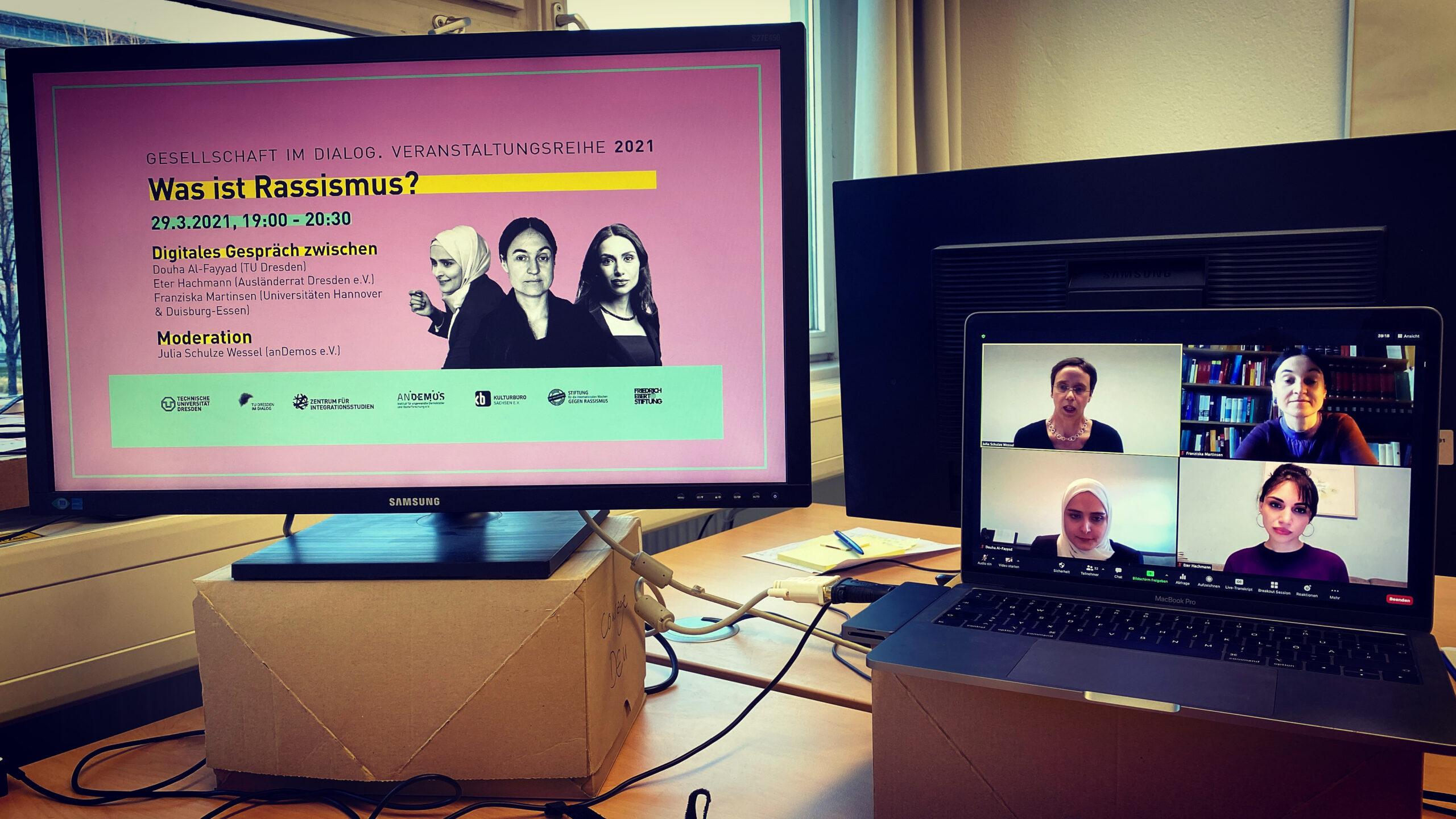 Digitales Gespräch 'Was ist Rassismus?'